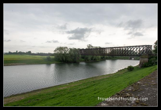 De spoorbrug in Griethausen