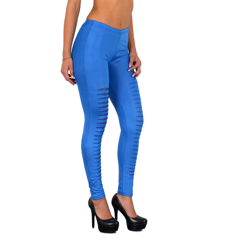 l22 lederlook leggings bunte legging mit rissen leggins. Black Bedroom Furniture Sets. Home Design Ideas