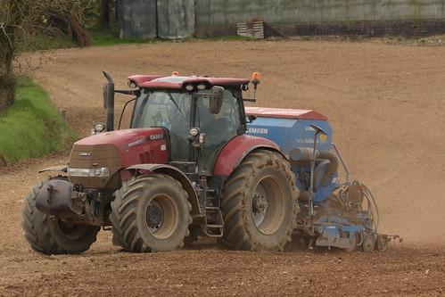 Case IH Puma 240 CVX Tractor with a Lemken Solitair 8 Seed Drill & Power Harrow
