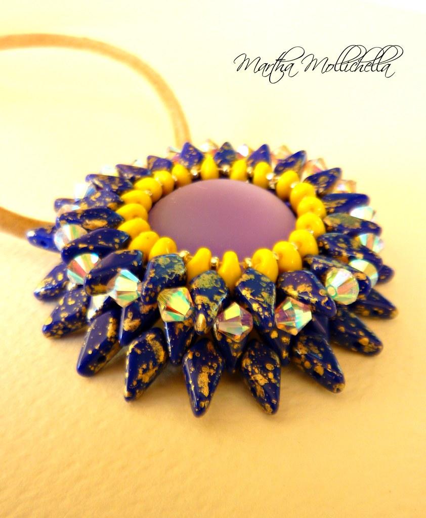 Corolla Pendant by Martha Mollichella Handmade Jewelry
