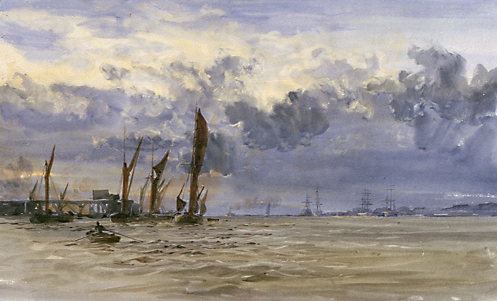Thames barges in the Medway, circa 1900