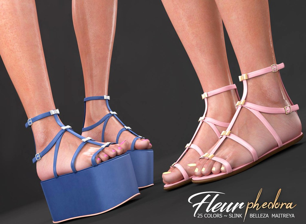 "Phedora for Equal 10 Event- ""Fleur"" 2Versions flats - TeleportHub.com Live!"