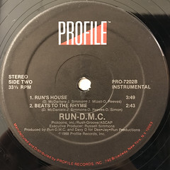 RUN-D.M.C.:RUN'S HOUSE(LABEL SIDE-B)