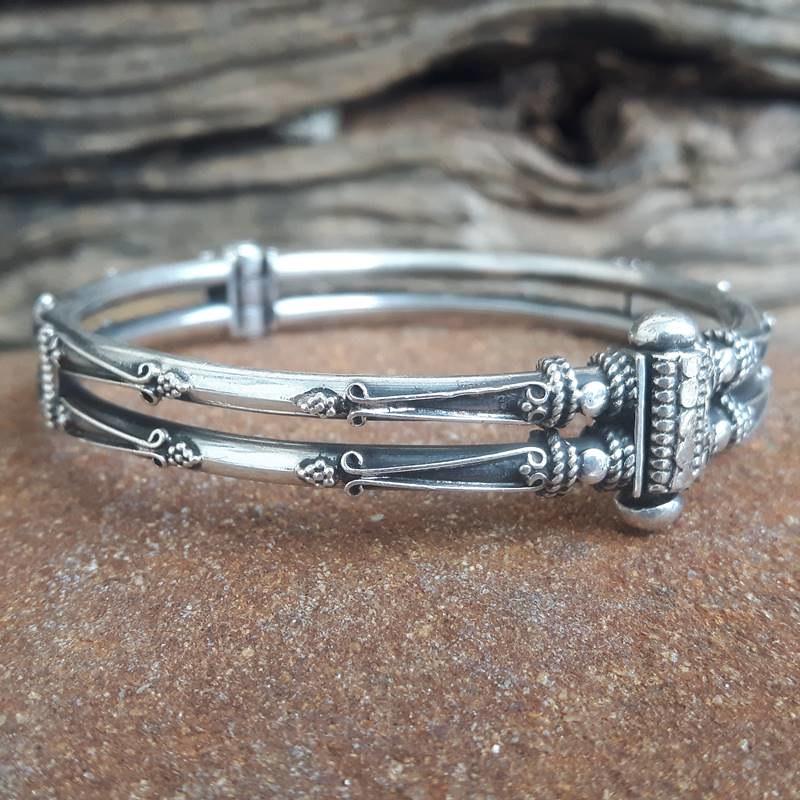 bracelet-argent-double-jonc