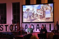 Sally Newell and Tony Gleeson launching the #StopAdani night of action in Brunswick - IMG_3094