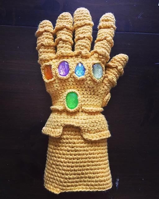 Ready for Infinity War. ❤️💛💙💜💚 #crochet #infinitygauntlet #infinitywar #avengers #avengersinfinitywar #marvel