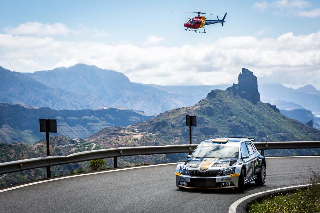 12 BOTKA David (hun), MESTERHAZI Mark (hun), SKODA FABIA R5, action during the 2018 European Rally Championship ERC Rally Islas Canarias, El Corte Inglés,  from May 3 to 5, at Las Palmas, Spain - Photo Thomas Fenetre / DPPI