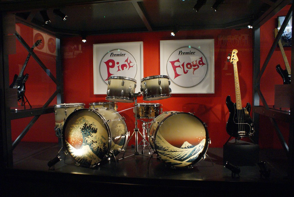 > Expo Pink Floyd au Macro de Rome : Une des premières batteries utilisé par le groupe (?).