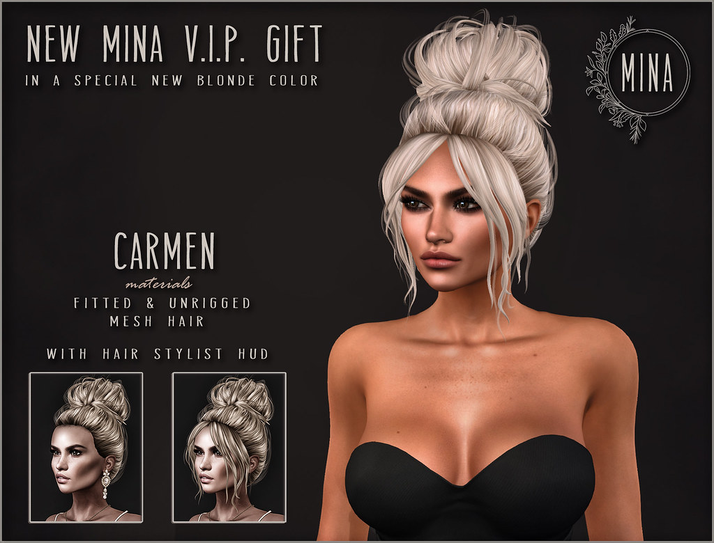 MINA Hair – New VIP gift Carmen in a Special New Blonde color! - TeleportHub.com Live!