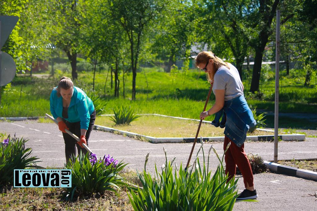 Acțiune de voluntariat în parcul orășenesc Leova