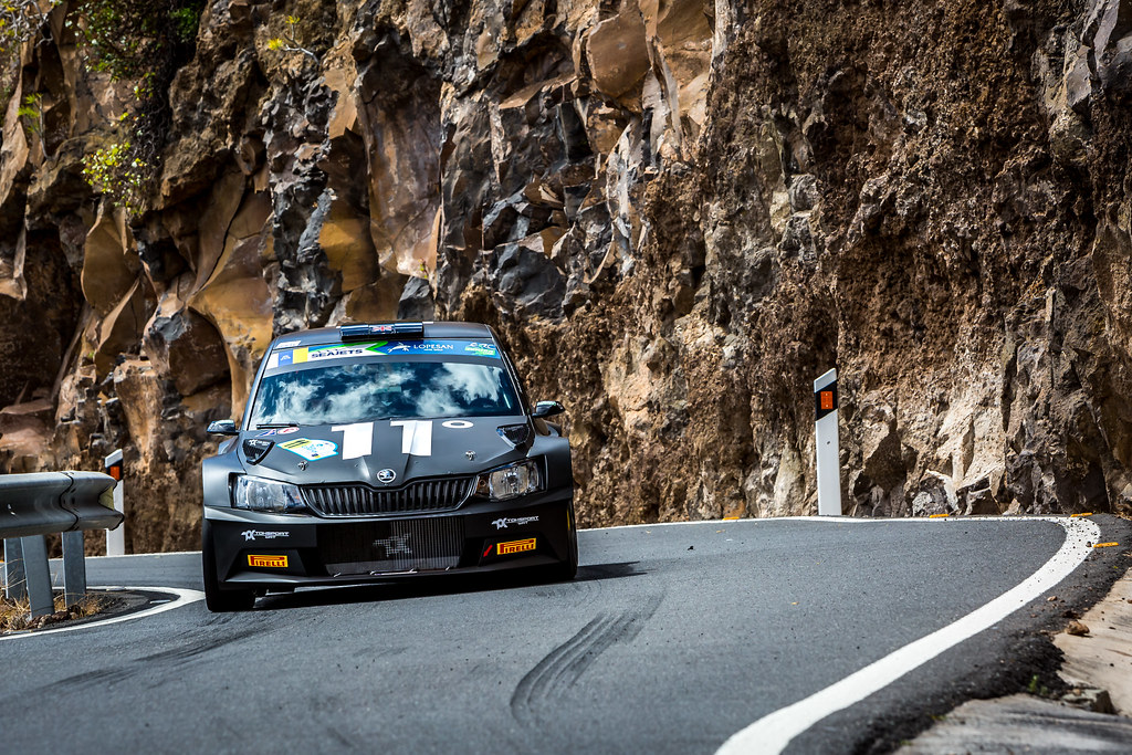 11 INGRAM Chris (gbr), WHITTOCK Ross (gbr) , TOKSPORT WRT, SKODA FABIA R5, action during the 2018 European Rally Championship ERC Rally Islas Canarias, El Corte Inglés,  from May 3 to 5, at Las Palmas, Spain - Photo Thomas Fenetre / DPPI