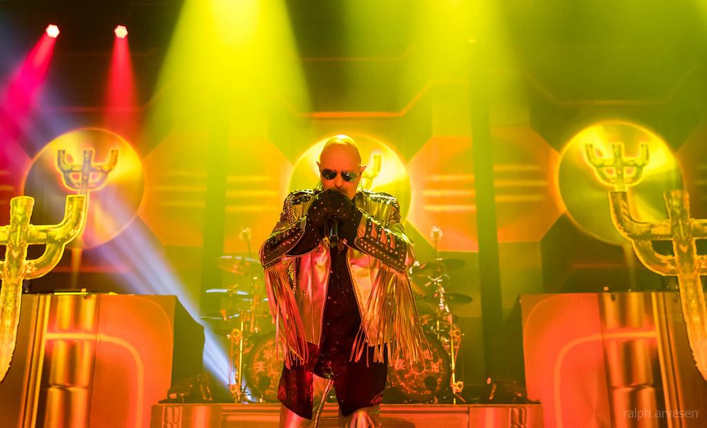 Judas Priest Performing At The Freeman Coliseum In San
