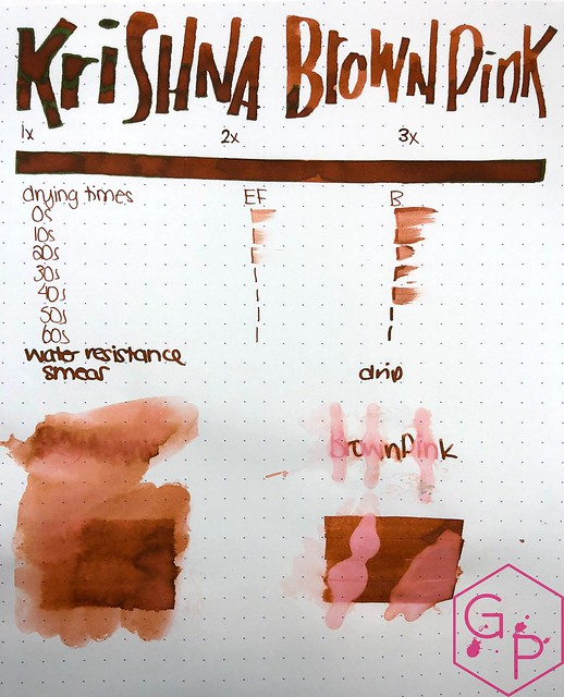 Krishna Inks Brown Pink Fountain Pen Ink Review @PenChalet 7