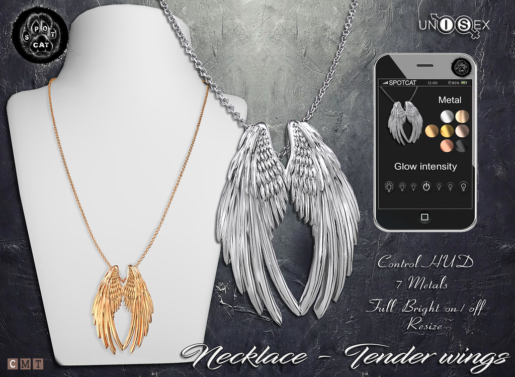 … SpotCat … Necklace – Tender wings