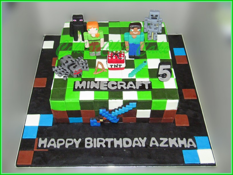 Cake Minecraft AZKHA 22 cm