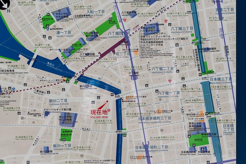 八丁堀、茅場町の地図