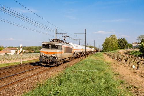 18 avril 2014  BB 7369  Train 58880 Sibelin -> Hendaye  Beautiran (33)