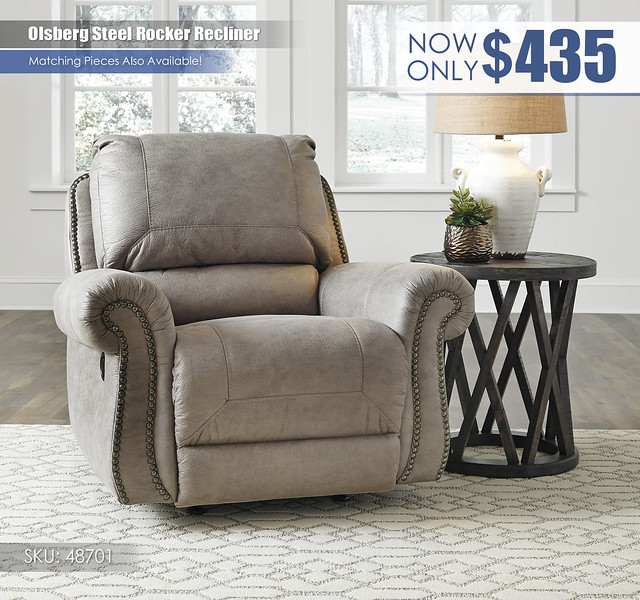 Olsberg Steel Rocker Recliner_48701-25