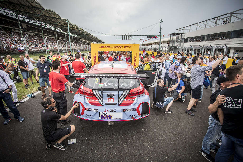 05 MICHELISZ Norbert (HUN), BRC Racing Team, Hyundai i30 N TCR, action  grille de depart starting grid  during the 2018 FIA WTCR World Touring Car cup, Race of Hungary at hungaroring, Budapest from april 27 to 29 - Photo Gregory Lenormand / DPPI