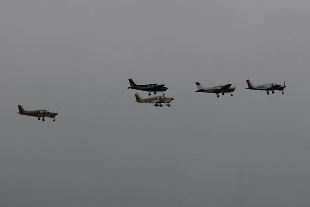 G-AZWS, G-AVYL, G-EDGI, G-BPAF and G-BMGB.