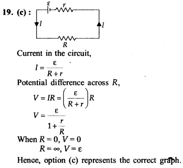 NEET AIPMT Physics Chapter Wise Solutions - Current Electricity explanation 19