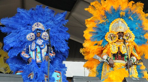 Big Chief Bird and the Young Hunters Mardi Gras Indians. Photo by Black Mold.