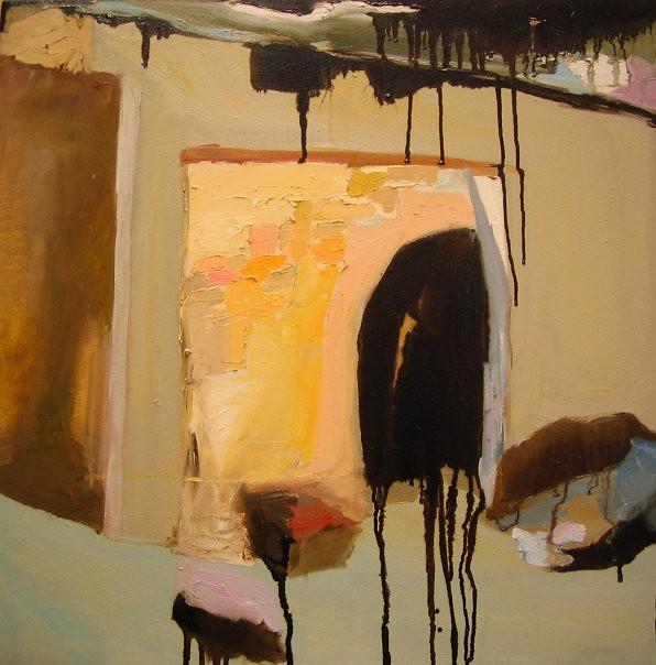 Entrée - 57x57 cm. Oil on canvas 2007