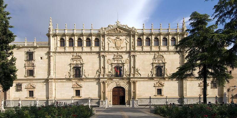 Façade of San Ildefonso College, Alcalá de Henares, SPAIN