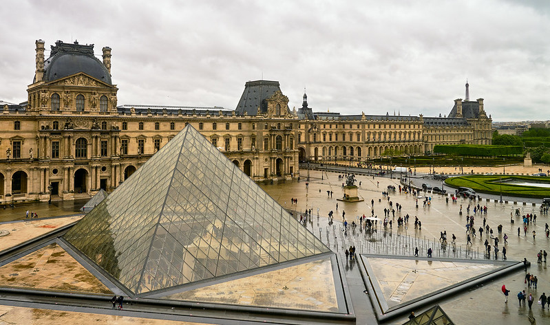 The Louvre In The Rain