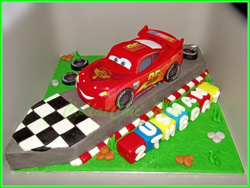 Cake Lightning McQueen USMAN 15 cm
