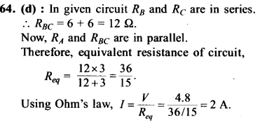 NEET AIPMT Physics Chapter Wise Solutions - Current Electricity explanation 64