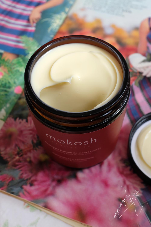 marchewkowa, blog, recenzja, kosmetyki naturalne, Mokosh, bez chemii, balsam brązujący, krem do twarzy, peeling, figa, żurawina, pomarańcza, cynamon