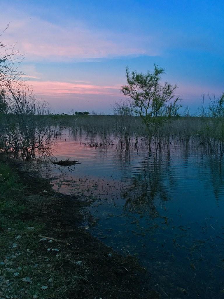 Amistad lake sunset