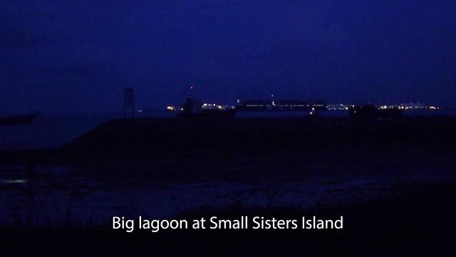 Small lagoon at Small Sisters' Island