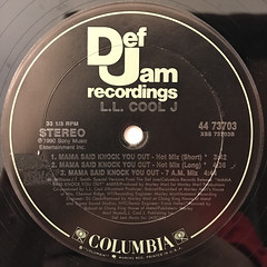 L.L. COOL J:MAMA SAID KNOCK YOU OUT(LABEL SIDE-B)