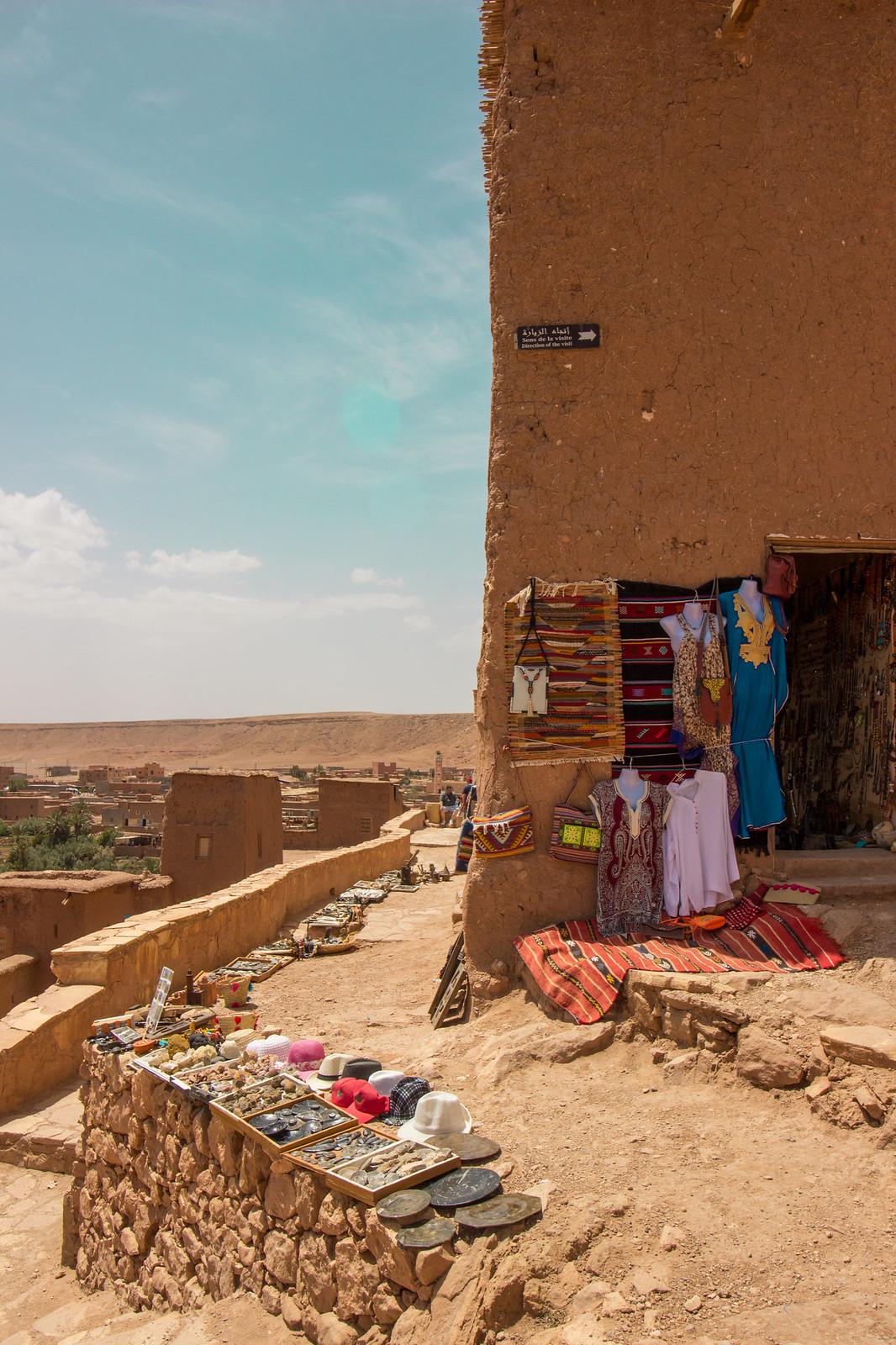 A tourist shop in Ait Ben Haddou