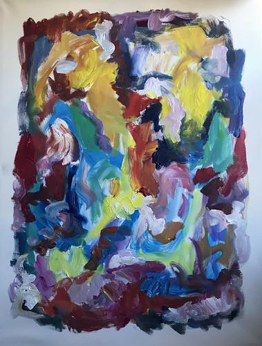 Susan Marx, Color Song, 2018, 48x36 acrylic on canvas