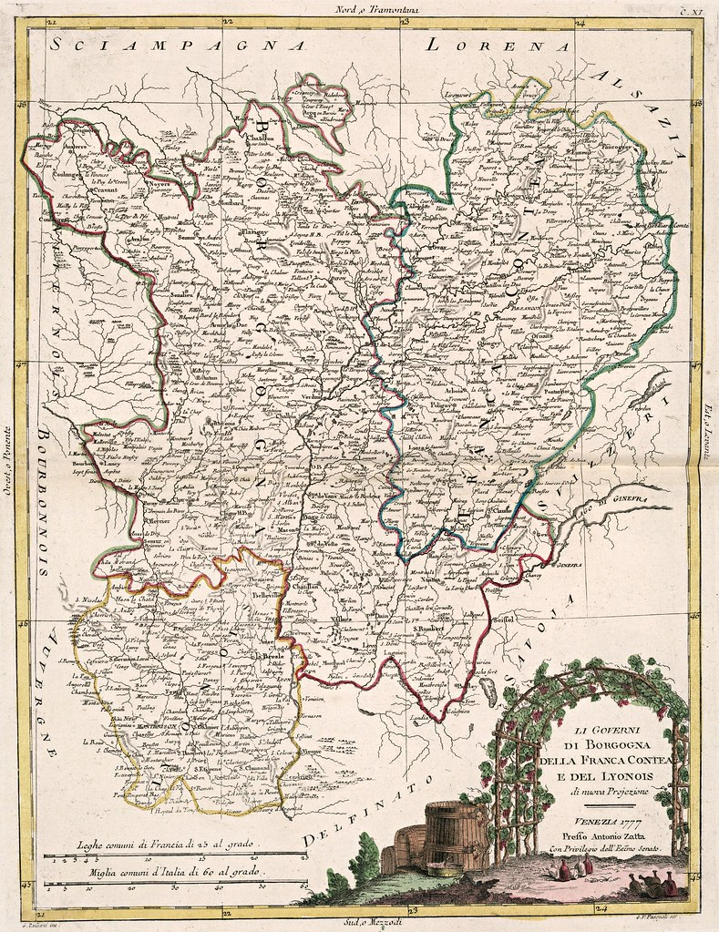 Antonio Zatta - Li Governi di Borgogna della Franca-Contea e del Lyonois (1777)