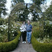 Adele and Richard Boyle in Scottish Walled Garden