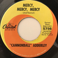 CANNNONBALL ADDERLEY:MERCY, MERCY, MERCY(LABEL SIDE-A)