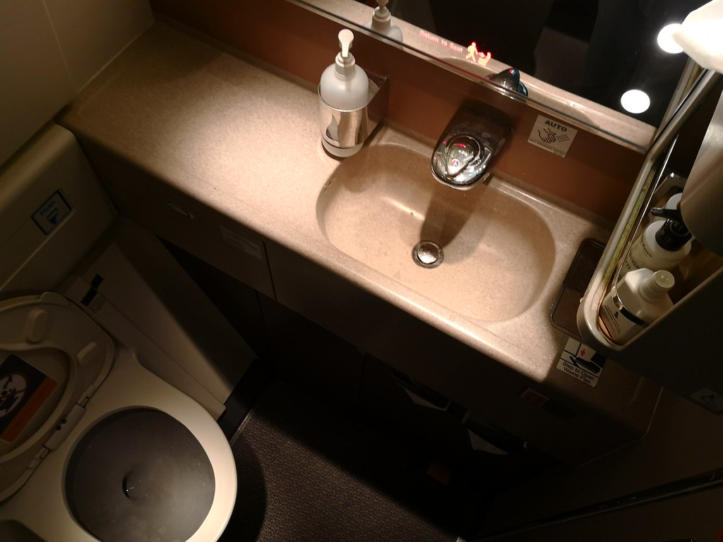 Lavatory in the 777