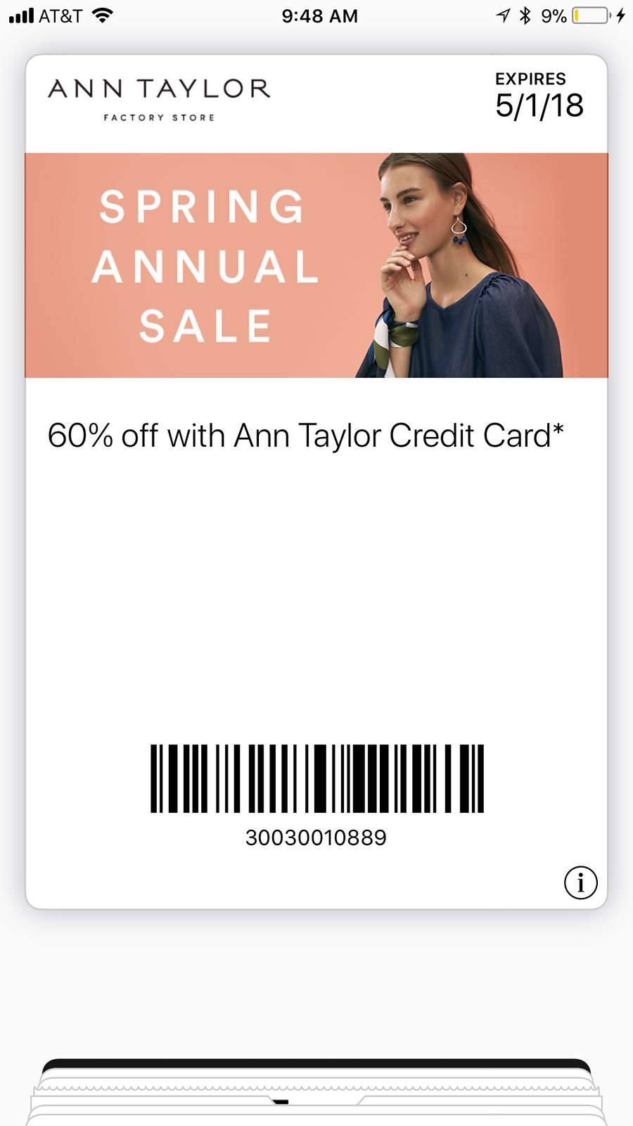 Ann Taylor Factory - 60% off
