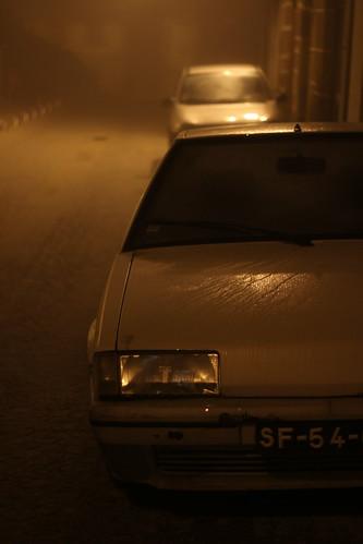 Citroen BX, Nuit et brouillard à Tondela, Portugal