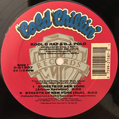 KOOL G RAP & D.J. POLO:STREETS OF NEW YORK(LABEL SIDE-A)