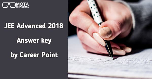 jee advanced answer key by career point