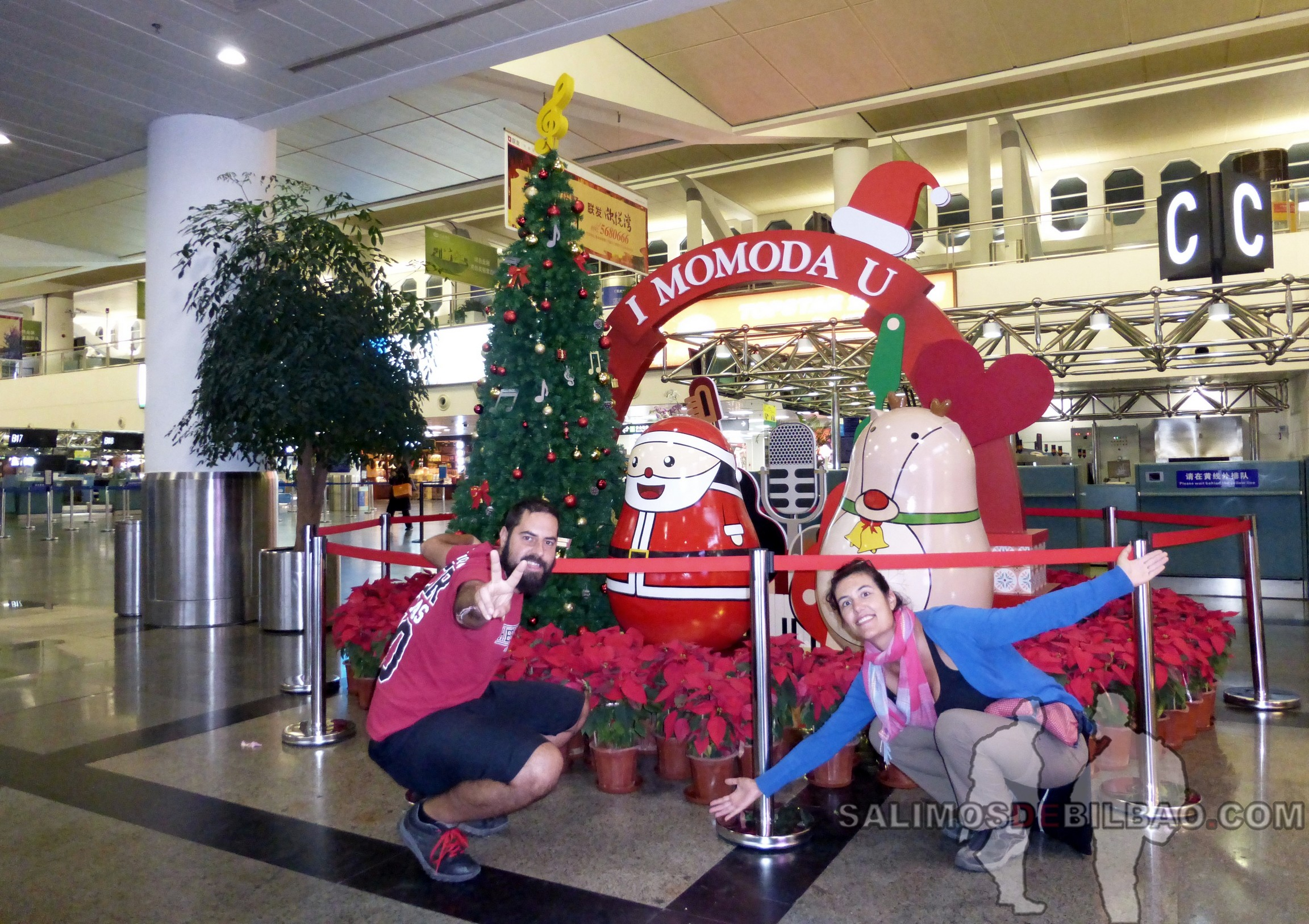 1403. Katz y Saioa, Aeropuerto de Xiamen