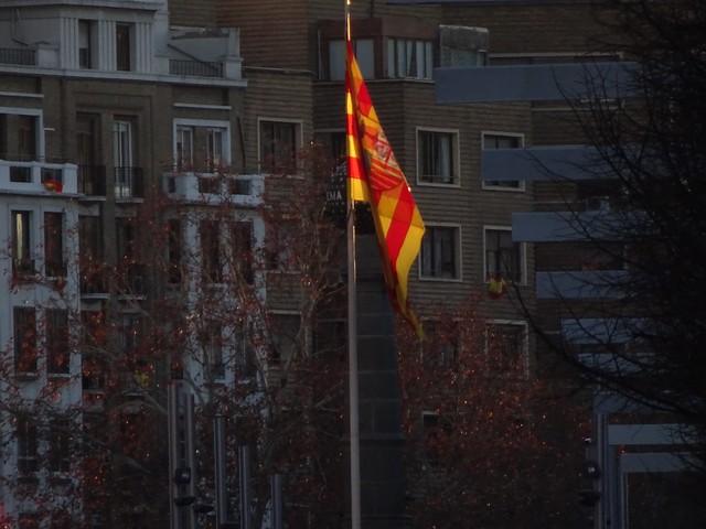 Bandera iluminada