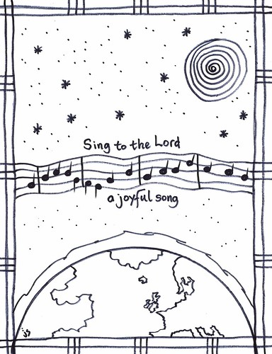 Psalm 98 coloring page Stushie Art