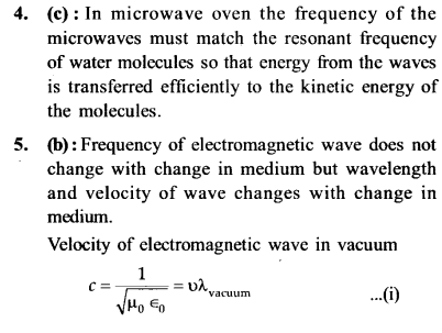 NEET AIPMT Physics Chapter Wise Solutions - Electromagnetic Waves explanation 4,5