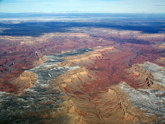 somewhere over the Grand Canyon in the MU2